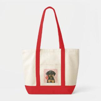 Valentine Rose Doberman Bags