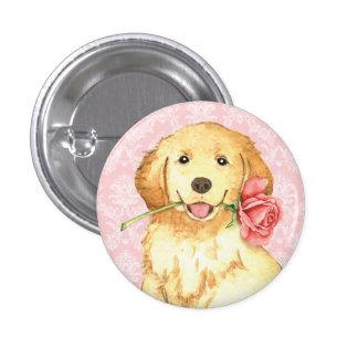 Valentine Rose Golden Retriever Pin