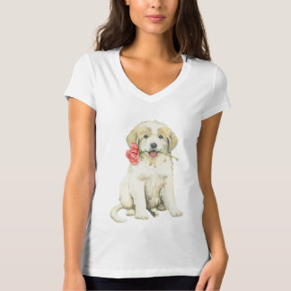Valentine Rose Great Pyrenees T-Shirt