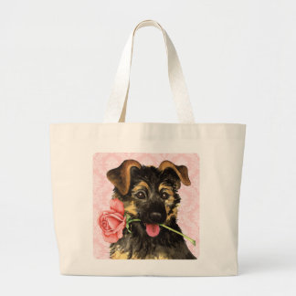 Valentine Rose GSD Tote Bag