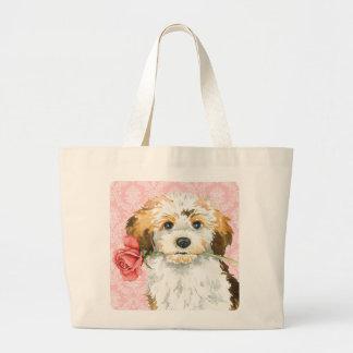 Valentine Rose Havanese Tote Bags