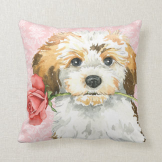 Valentine Rose Havanese Cushion