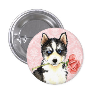 Valentine Rose Husky Button