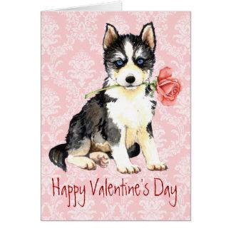 Valentine Rose Husky Card