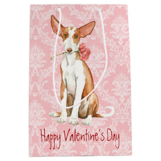 Valentine Rose Ibizan Hound Medium Gift Bag
