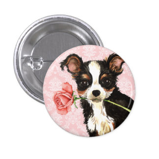 Valentine Rose Long Coat Chihuahua Button