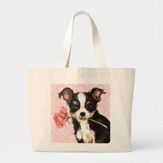 Valentine Rose Long Coat Chihuahua Bags