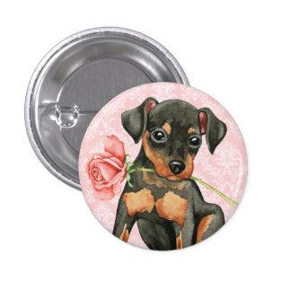 Valentine Rose Min Pin Button