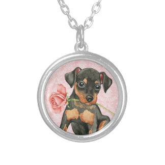 Valentine Rose Min Pin Silver Plated Necklace