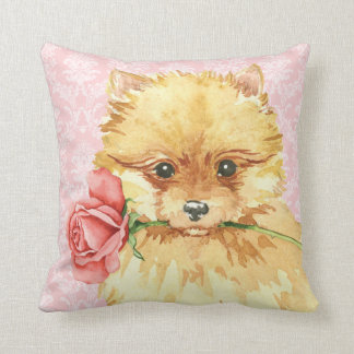 Valentine Rose Pomeranian Cushion
