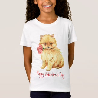 Valentine Rose Pomeranian T-Shirt