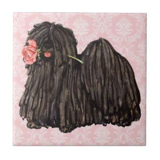 Valentine Rose Puli Ceramic Tile