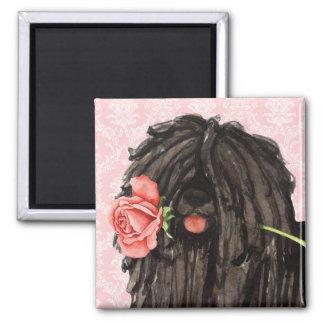Valentine Rose Puli Magnet