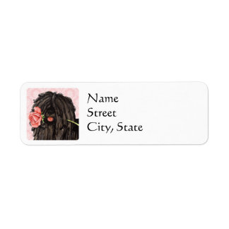 Valentine Rose Puli Return Address Label