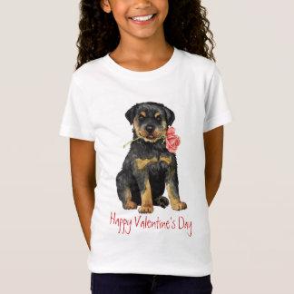 Valentine Rose Rottweiler T-Shirt