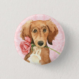 Valentine Rose Saluki 3 Cm Round Badge