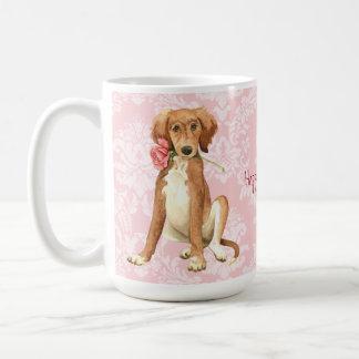 Valentine Rose Saluki Coffee Mug