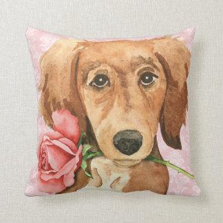 Valentine Rose Saluki Cushion