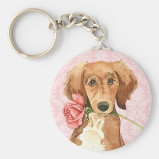 Valentine Rose Saluki Key Ring