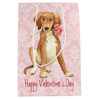 Valentine Rose Saluki Medium Gift Bag
