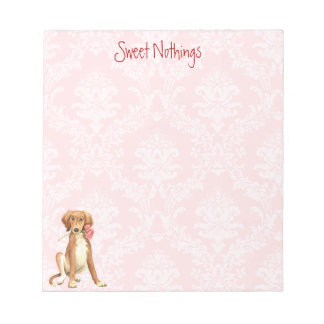Valentine Rose Saluki Notepad