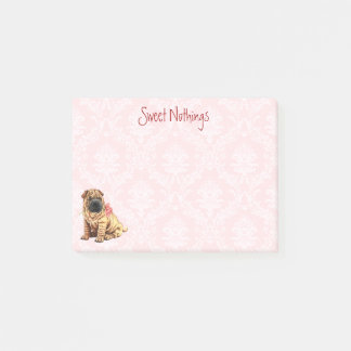 Valentine Rose Shar-Pei Post-it Notes