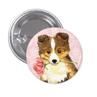 Valentine Rose Sheltie Pins