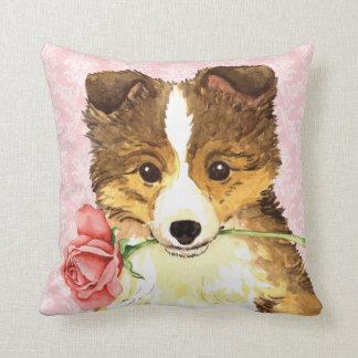 Valentine Rose Sheltie Cushion