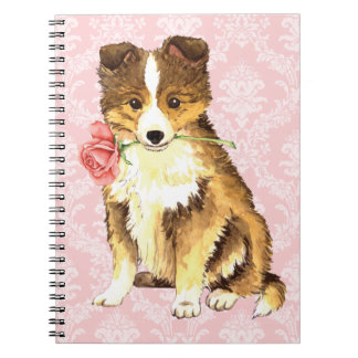 Valentine Rose Sheltie Note Books