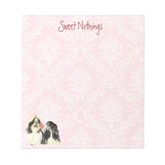 Valentine Rose Shih Tzu Notepad