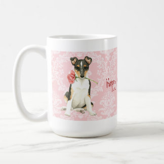 Valentine Rose Smooth Collie Coffee Mug