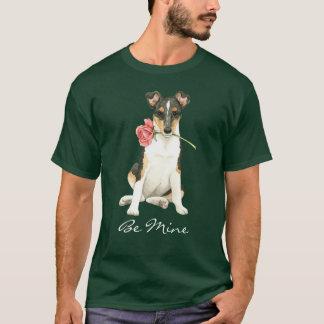 Valentine Rose Smooth Collie T-Shirt