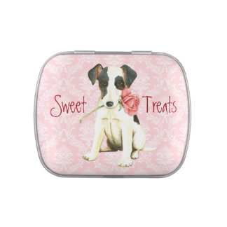 Valentine Rose Smooth Fox Terrier Candy Tins