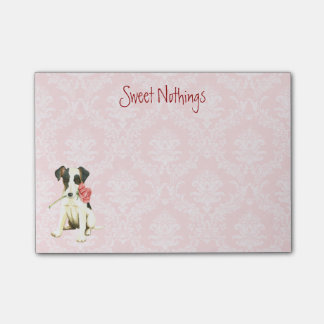 Valentine Rose Smooth Fox Terrier Post-it® Notes