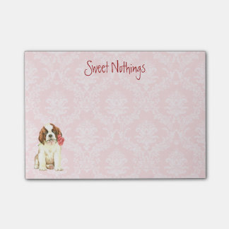 Valentine Rose St. Bernard Post-it® Notes