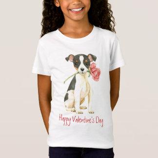 Valentine Rose Toy Fox Terrier T-Shirt