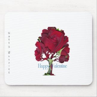 Valentine rose tree mouse pad