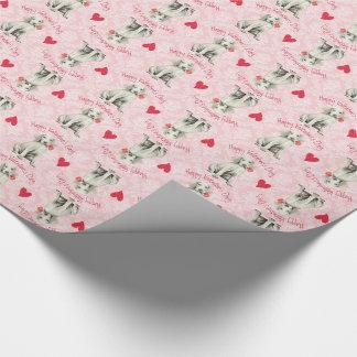 Valentine Rose Weimaraner Wrapping Paper