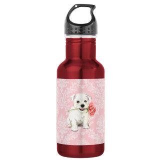 Valentine Rose Westie 532 Ml Water Bottle