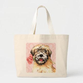 Valentine Rose Wheaten Canvas Bags