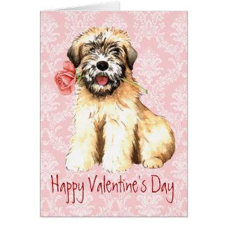 Valentine Rose Wheaten Card