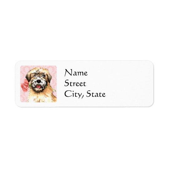 Valentine Rose Wheaten Return Address Label