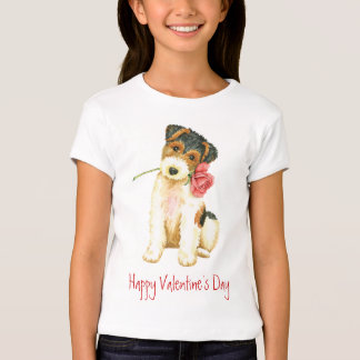 Valentine Rose Wire Fox Terrier T-Shirt