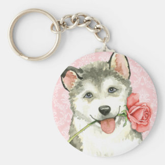 Valentine Rose Yellow Lab Key Ring