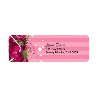 "Valentine ""Roses"" Customizable Return Address Label"