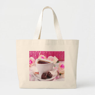 Valentine' S Day: Coffee & Chocolate Seventeen Large Tote Bag