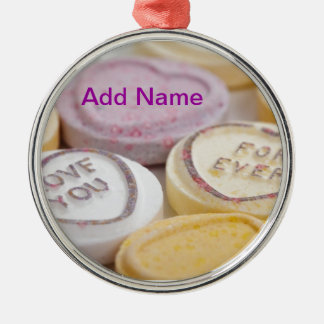 Valentine s Day Cute Qpc Template Gifts Silver-Colored Round Decoration