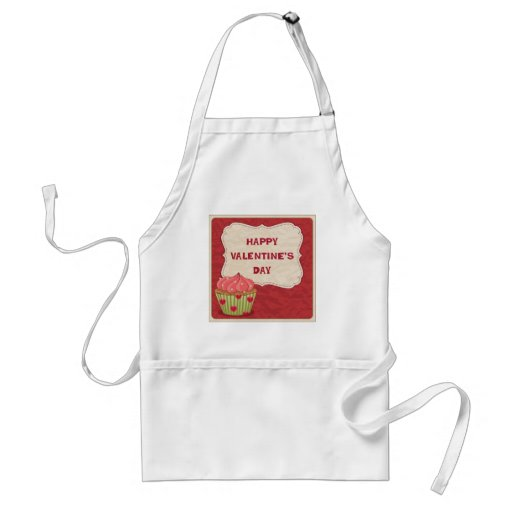 Valentine´s day design with cupcake aprons