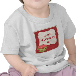 Valentine´s day design with cupcake t shirt