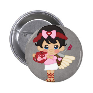 Valentine s Day Heart Cupid Pinback Buttons